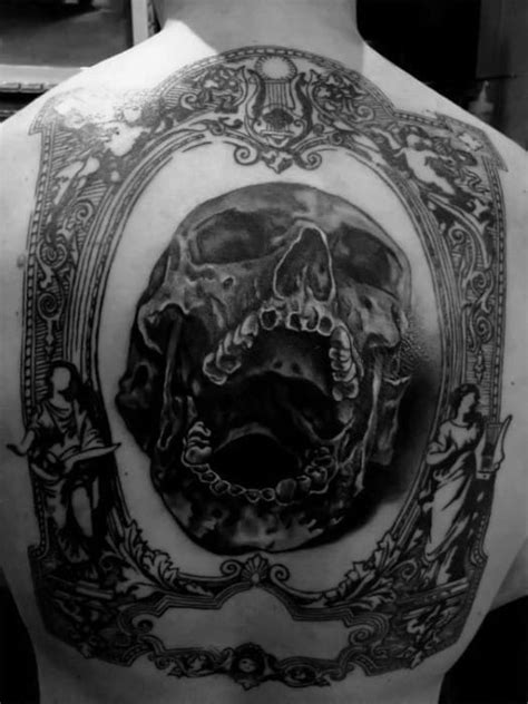 40 Skull Back Tattoo Designs For Men - Masculine Ink Ideas