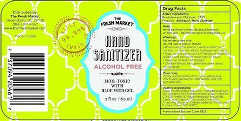 fresh market hand sanitizer alcohol   fresh