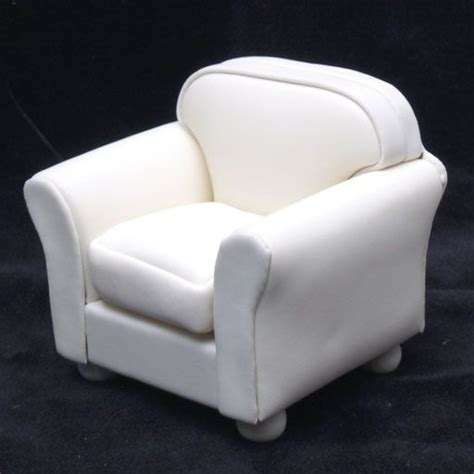 white leather look club chair
