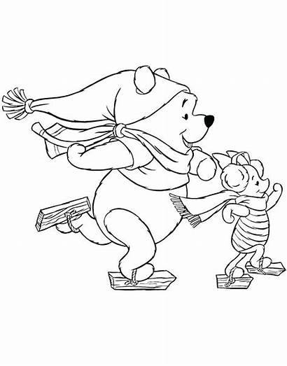 Coloring Pages December Ice Skating