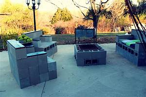 Less lawn more edibles for Cinder block furniture backyard