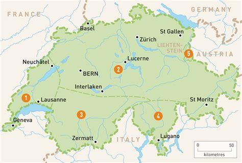 Carte Suisse by Map Of Switzerland Switzerland Regions Guides