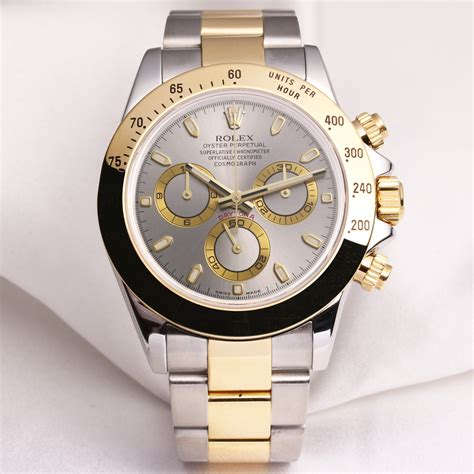 Rolex Daytona 116523 Steel & Gold Silver Dial