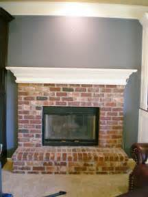 How to Whitewash Brick Fireplace White