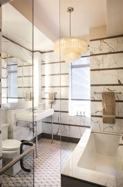 nyc apartment   elegant  bathroom design