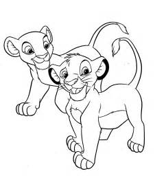 Walt Disney Character Coloring Pages Nala