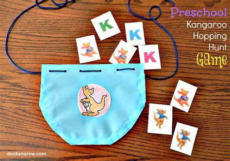 preschool letter k is for kangaroo ducks n a row 146 | KangarooPOUCHforHoppingHunt2