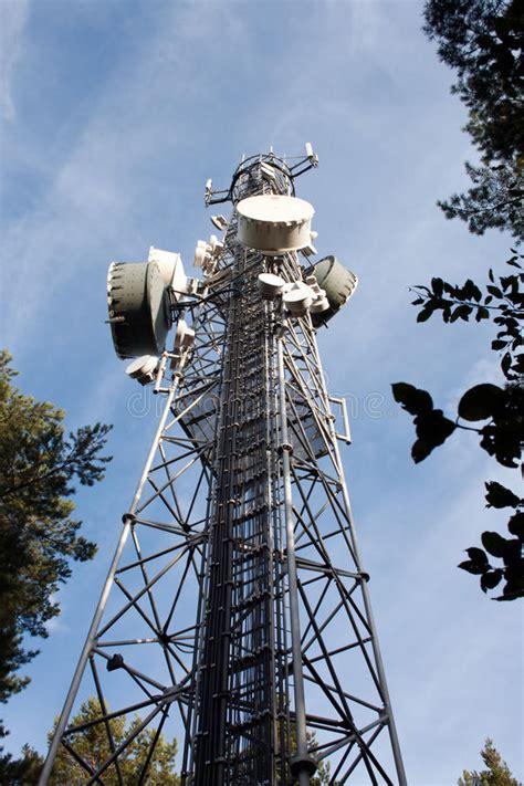 Mobile Phone Transmitter Stock Image Aerial