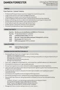writing a tradesman resume carpenter tradesman resume sle resumes design