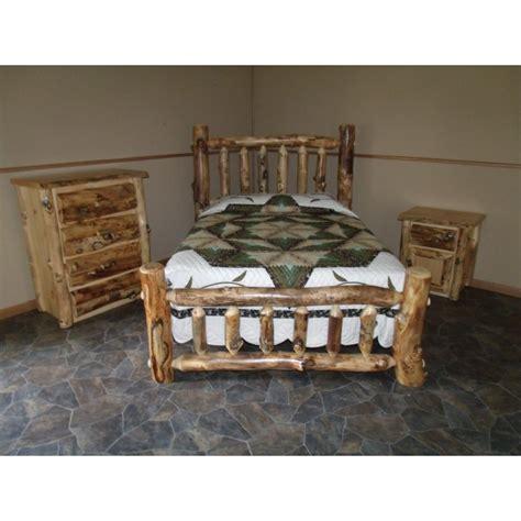Aspen Bedroom Set by Rustic Aspen Log Complete Bedroom Set