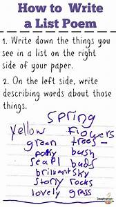 List Poems - Fun Poetry With Kids
