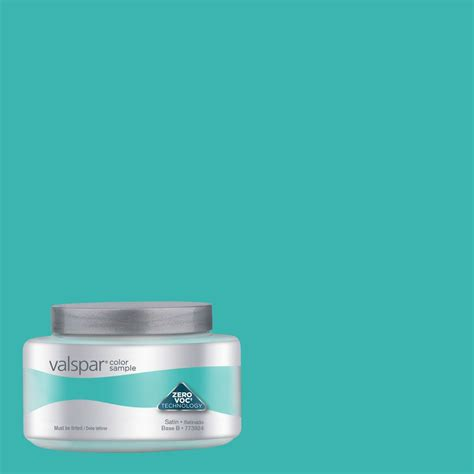 valspar turquoise tint interior satin paint sle actual net contents 8 fl oz at home in