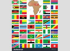 Complete Set African Flags Stock Vector 44922577