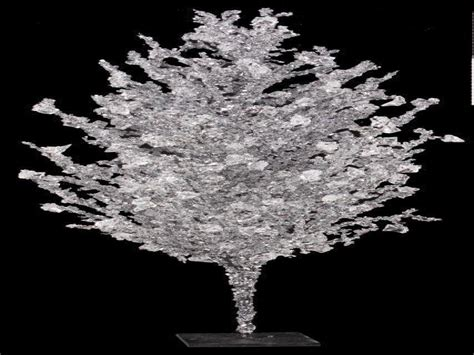 wedding centerpieces  tree branches crystal ice