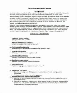 8 research report templates free word pdf format for Market research document template
