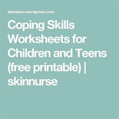 coping skills worksheet  children  teens