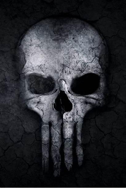Skull Punisher Dark Wallpapers Artwork Background Iphone