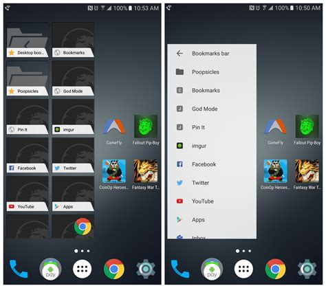 android bookmark widget chrome is getting a new material design bookmarks widget