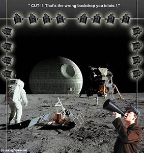 Apollo Landing on the Moon with Death Star in Background ...