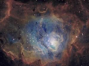 M8 Lagoon Nebula Narrowband Color - Full Res