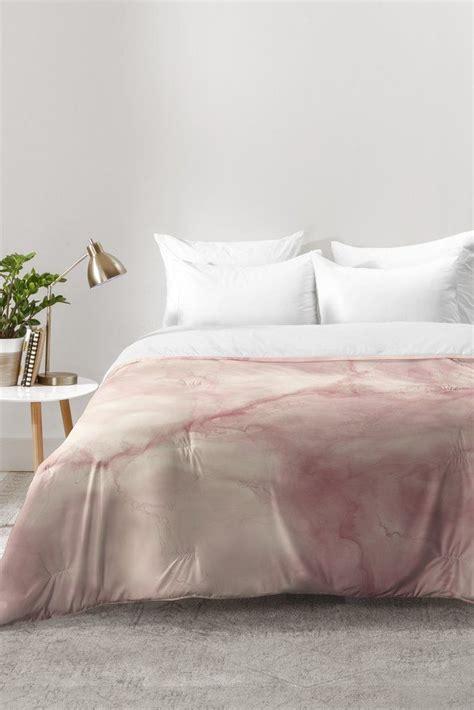 chelsea victoria rose gold marble comforter deny designs