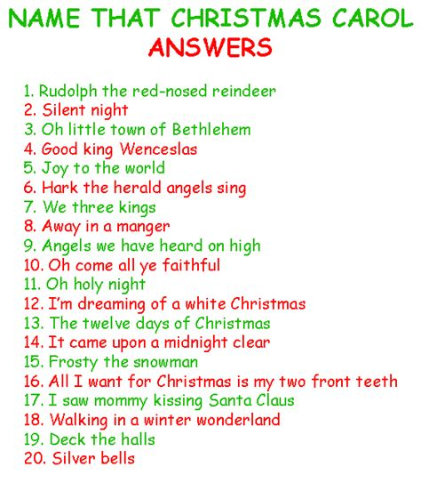 name that christmas carol free christmas games