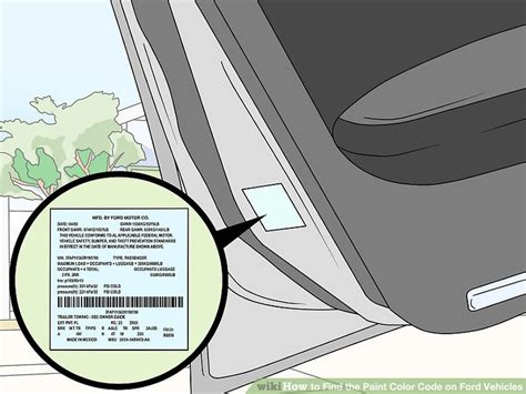 find color code 3 ways to find the paint color code on ford vehicles wikihow