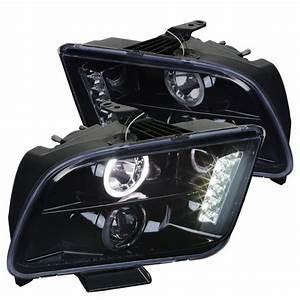 Spec-D Tuning 2002-2009 Ford Mustang Projector Headlight 2005 2006 2007 2008 2009 (Left + Right ...