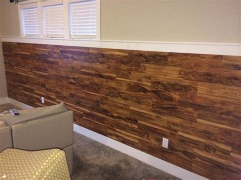 hardwood flooring on the wall wainscoting laminate flooring on half wall rooms pinterest laminate flooring wainscoting