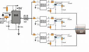 Three Phase Motor Speed Control Circuit Diagram