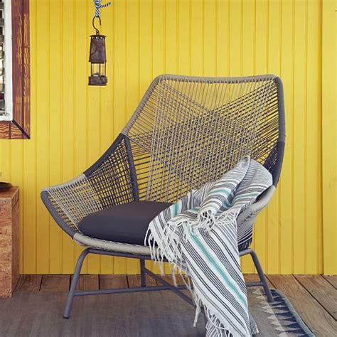 huron large lounge chair cushion gray west elm