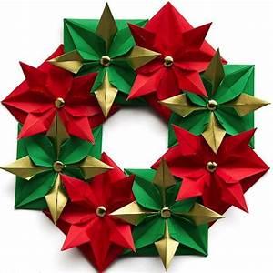 Weihnachtskranz Selber Basteln : so k nnen sie einen weihnachtskranz selber basteln 50 ideen origami ~ Eleganceandgraceweddings.com Haus und Dekorationen