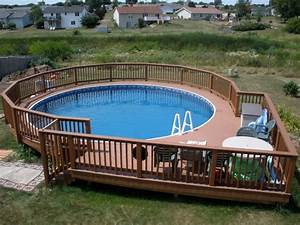 Swimming pool wooden pool deck and railing also patio for Swimming pool designs and prices