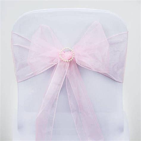 pink organza chair sash efavormart