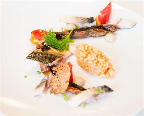 maquereaux aubergines et risotto triomphe de liège le