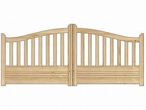 Portail De Jardin : portail jardin bois gand 4 x x m 81003 ~ Melissatoandfro.com Idées de Décoration