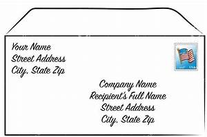 How to formally address a business envelope proper for How to send a shipping label to someone