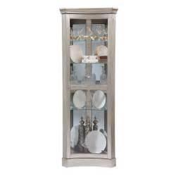 pulaski platinum concave corner curio cabinet 21417