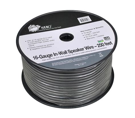 Amazon Siig Gauge Rated Speaker Wire For