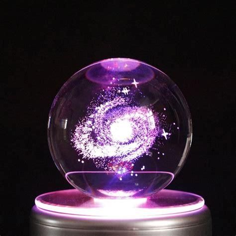 galaxy navidad led crystal ball  box