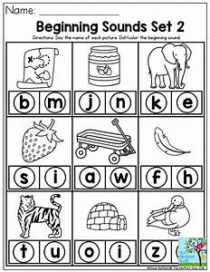 beginning sounds say the name of each picture and dot the With sounding out letters games