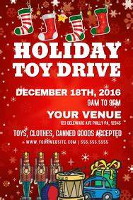 Holiday Toy Drive Flyer Template Customizable Design Templates For Christmas Toy Drive