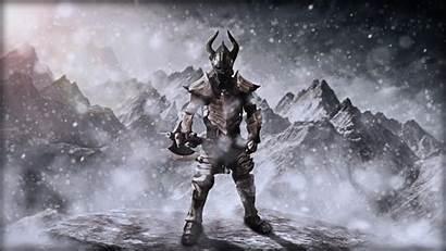Skyrim Armor Dragonborn Dragon Dragonbone Guy Badass