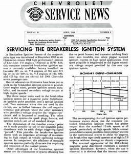 1964 Corvette  Service News  Servicing The Breakerless