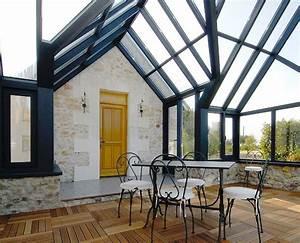 modele veranda maison ancienne maison variantes piges With type de toiture maison 4 type de double vitrage