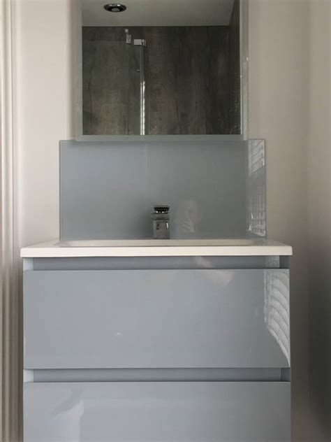 bathroom sink glass splashback uaglass norwich
