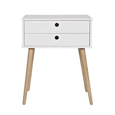 side table with two drawers retro 2 drawer side table in pine side coffee tables