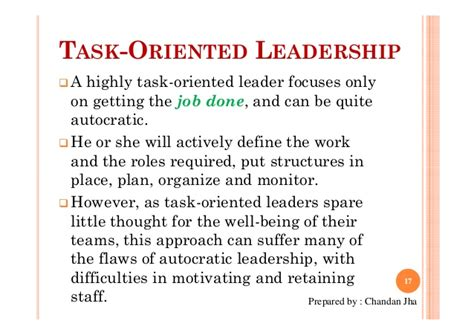 leadership jha oriented chandan task leader leaders slide