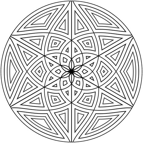 Coloring Designs Printable by Free Printable Geometric Coloring Pages For Adults