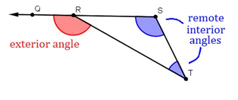 remote interior angles angle properties of triangles wyzant resources